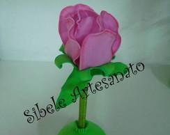 caneta flor rosa em eva