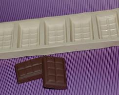 Molde de silicone Chocolate em barrinhas