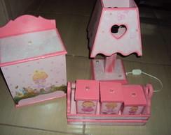 Kit higiene beb� menininhas-Rosa