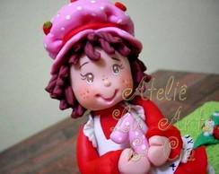 Topo de Bolo Moranguinho Rebecca