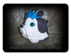 Shih-tzu Big Eyes (m�dio) LA�O AZUL