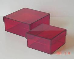Conjunto caixas acr�lico