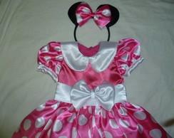Fantasia da Minnie Rosa Tam.1-5 anos