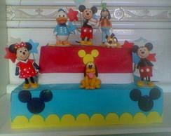 Bolo Decorado Mickey e sua Turma