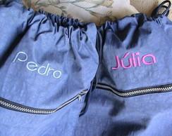 Mochila Nylon Azul Jeans Personalizada