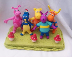conjunto backyardigans com 5 personagem
