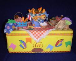 Caixa de Bolo Festa Junina