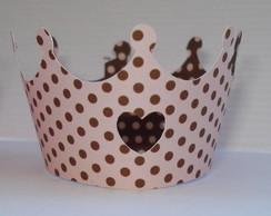 Forminha para mini cupcake rosa e marrom