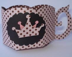 Forminha Wrapper para mini cupcake rosa