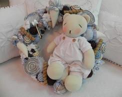 Porta de maternidade doces e urso