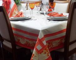 Toalha p�rola barrado laranja