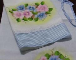 Pintura em tecido avental e pano  prato