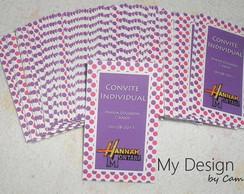 Convite Individual Hannah Montana