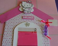convite infantil hello kit