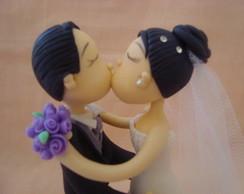 Topo de Bolo Love kiss