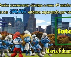 Convite Os Smurfs