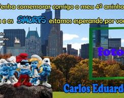 Convite Smurfs