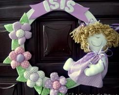 Guirlanda de porta boneca lil�s