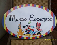 Placa pvc turma do mickey