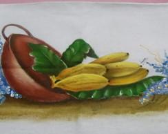 Pano de prato tacho de bananas