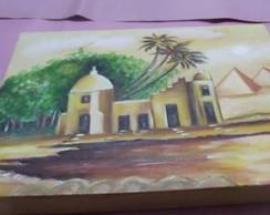 Pintura a oleo em tela,Egito antigo
