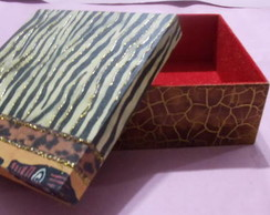 caixa em mdf,estilo africano