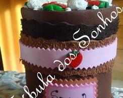 Porta trecos Torta de Morango