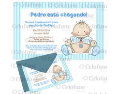 Convite ch� de beb� Pedro