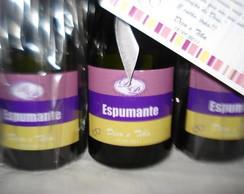 R�tulo Mini Champagne personalizado