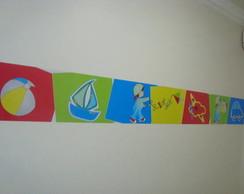 Faixa em adesivo - decora��o quarto de b