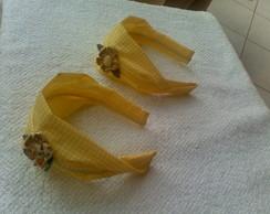 tiara faixa amarela