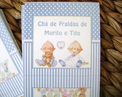 Tarja Ch� Fraldas: G�meos Azul