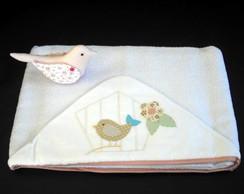 Toalha de Banho Forrada - P�ssaro