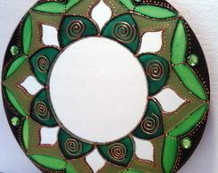 Mandala Sa�de em espelho de 25cm