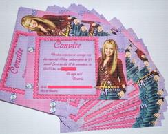 Convite Hannah Montana