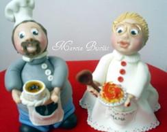 Potes casal de cozinheiros