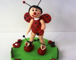 topo de bolo infantil joaninha