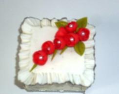 Caixa de j�ia em biscuit para casamento