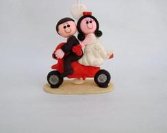 Noivinhos na moto