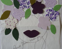 Aplique Cabeca de flores lilas