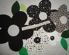 """Aplique """"Primavera em Preto & Branco"""""""