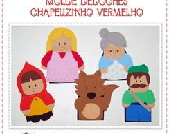 MOLDE DEDOCHE CHAP�UZINHO VERMELHO - EVA