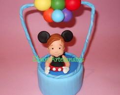 Topo de bolo bal�o do Mickey
