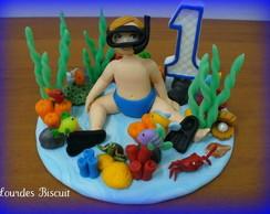 Topo de bolo - Festa do Fundo do Mar