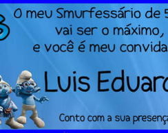 Convite Smurfs - Ingresso