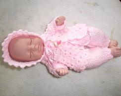 Conjunto em trico para Mini Reborns
