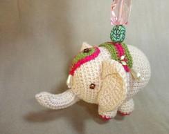 Chaveiro Elefante Crochet