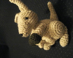 Chaveiro Canguru Crochet