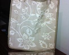 Bolsa de tecido e organizador de bolsa