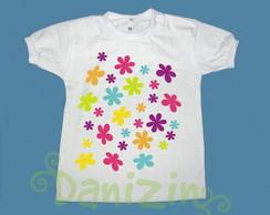 T-Shirt Beb� e Infantil FLOWERS